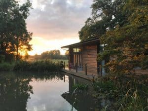 Riverside lodge ideal for a fishing holiday