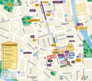 Map of Bath Christmas Market