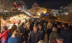 The bustling Christmas market in Birmingham