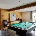 Cambrian house games room in luxury big house to hire