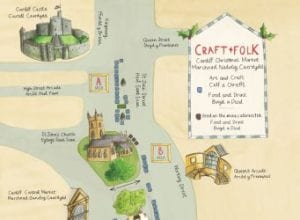 The map for Cardiff's Christmas Market