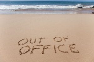 Out of office annual leave for holiday