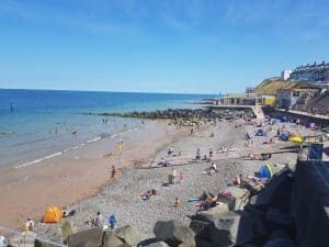 The beach at Sheringham Norfolk