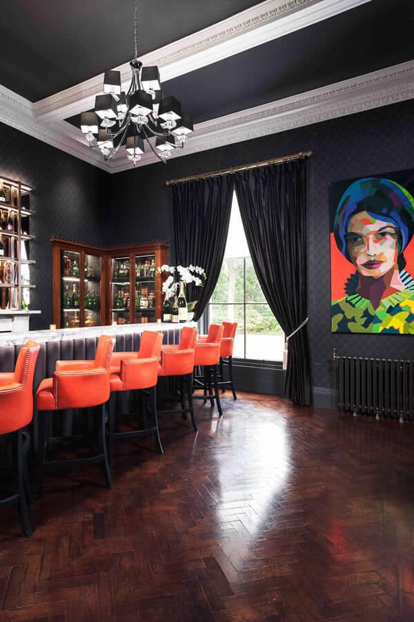 Turnhouse castle bar in luxury mansion for hire