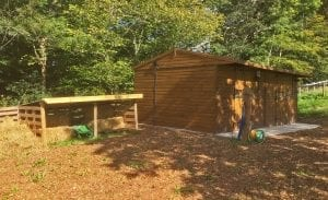 stables for guests on horse holidays