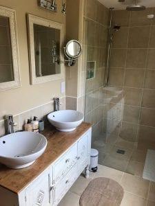 Twin sinks in Number 5 Bathroom