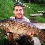 Alex fishing for carp and offers fishing lessons