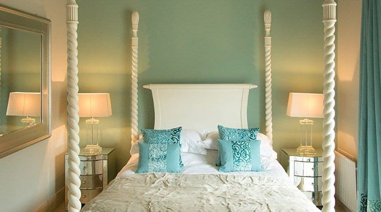 The Treehouse luxury linen blue cushions