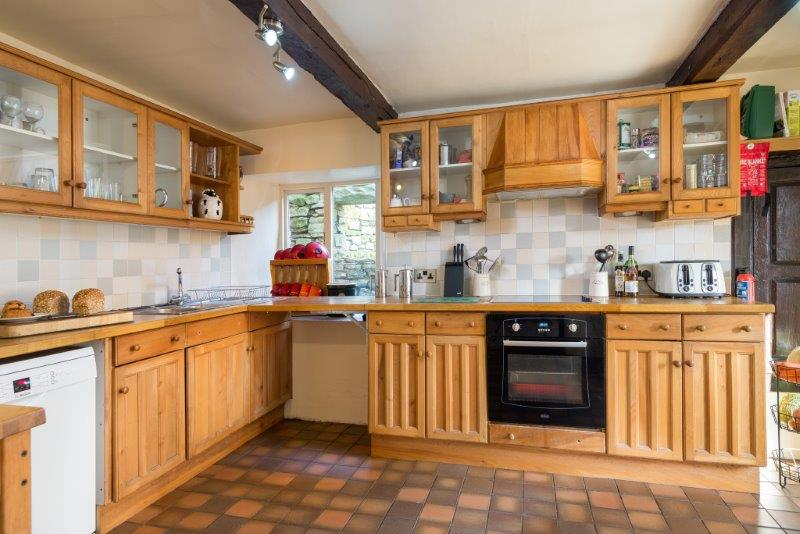 Rustic country kitchen with terracotta tiles