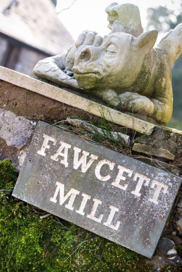 Quirky Fawcett Mill sign