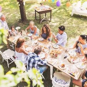 Midweek breaks garden birthday party