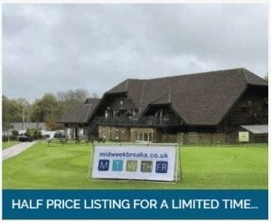 Midweek breaks half price listings for a limited time for property owners
