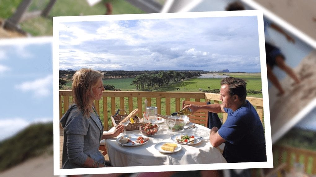 Enjoy the views with a spot of lunch form the treehouse veranda